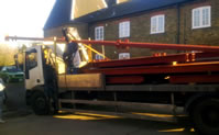 loading steel DV Fabs ltd